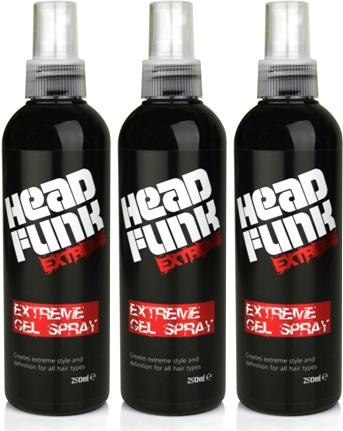 gel spray head funk extreme, gel para cabelo, brilho