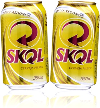 latas de cerveja beer pilsen skol desce redondo bebidas