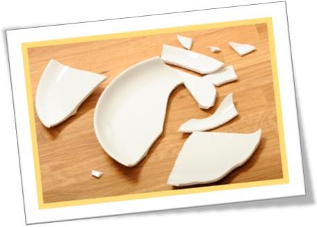 prato quebrado, butterfingers, porcelana, pratos de jantar butter finger