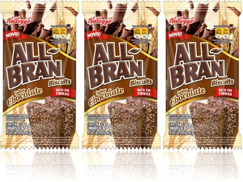 kelloggs biscuits biscoitos all bran sabor chocolate rico em fibras
