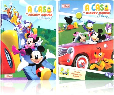 caderno escolar tilibra casa de mickey mouse disney desenhos