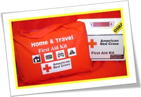 home and travel first aid kit, american red cross