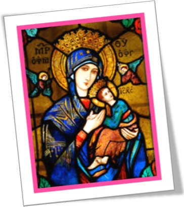stained glass of our lady of perpetual help