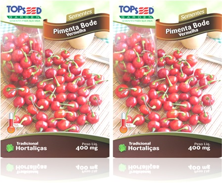 plantas, hortaliças, sementes pimenta bode vermelha topseed, jardim