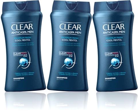shampoo clear anticaspa men cool mentol no dandruff
