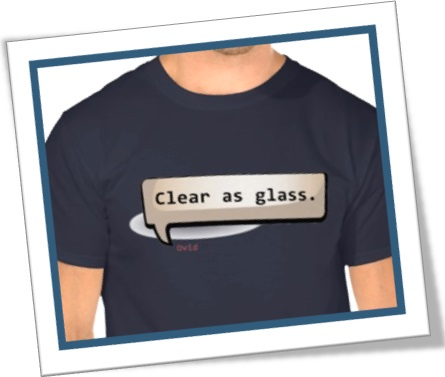 tshirt camiseta clear as glass claro como água