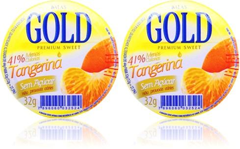 confeitos doces balas gold premium sweet sabor tangerina
