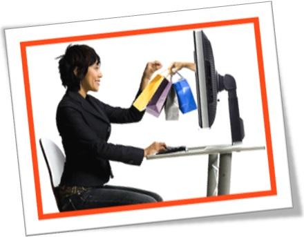 buy online, compras online, mulher compra produtos pela internet