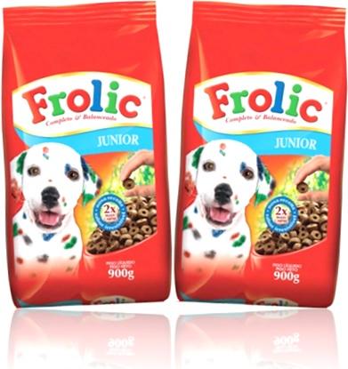 ração alimento para filhotes de cães cachorro frolic