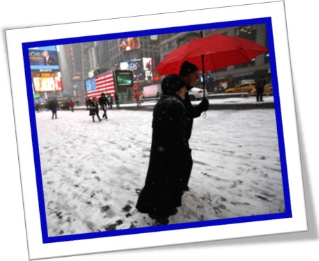 snow in new york city, neve na cidade de nova iorque