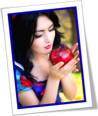 snow white and apple, branca de neve e maçã