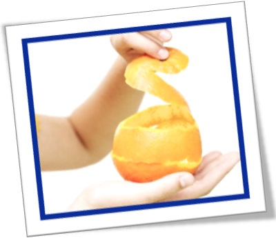 the orange peel, casca de laranja, mão, casca de frutas