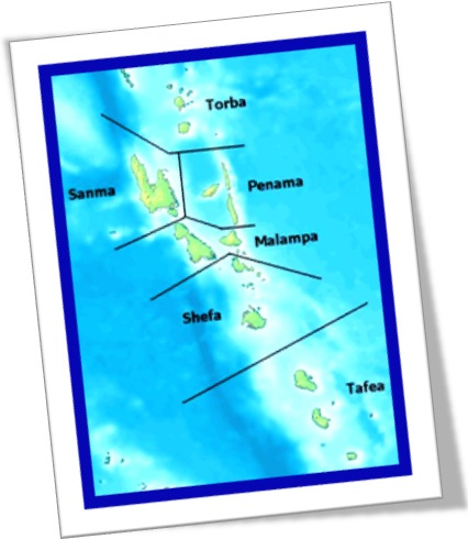 arquipélago de vanuatu torba sanma penama malampa shefa tafea oceania