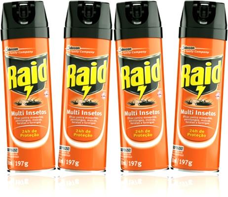 inseticida raid multi insetos sc johnson baratas formigas moscas mosquitos
