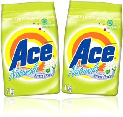 lava roupas, sabão em pó ace naturals perfume de erva doce