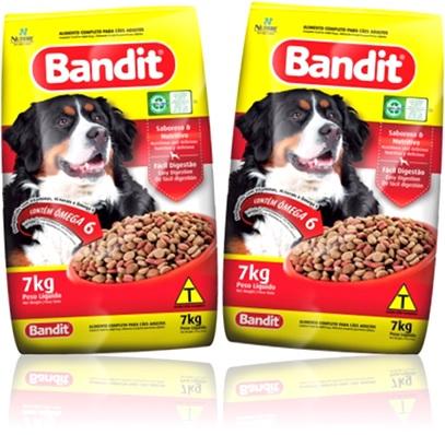 ração para cachorro de raça, alimento para cães adultos bandit