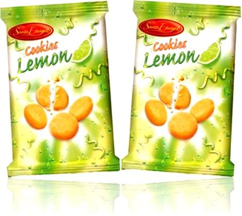 pacotes de biscoitos amanteigados cookies sabor limão santa edwiges, casca de limão