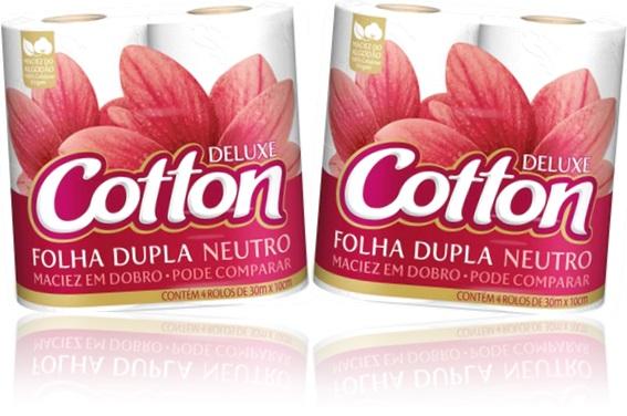 rolos de papel higiênico deluxe cotton folha dupla decorado carta fabril