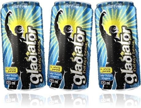 bebida energética gladiator energy drink sabor frutas selvagens coca cola