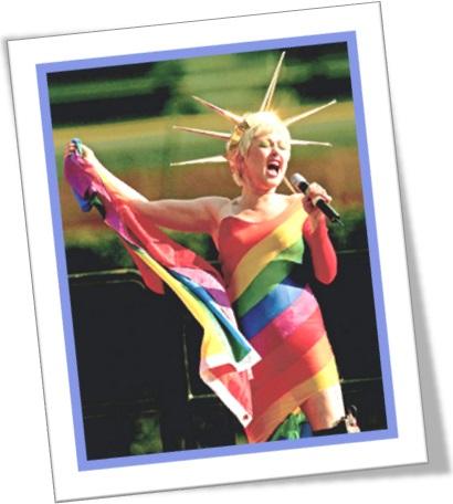 cyndi lauper as the rainbow coalition statue of liberty