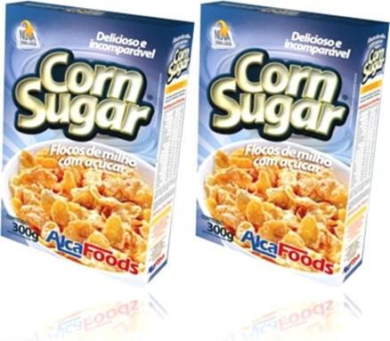 cereal, alimentos flocos de milho com açúcar corn sugar alca foods