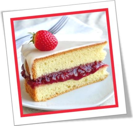 pão de ló, sponge cake, geléia de morango, sobremesa