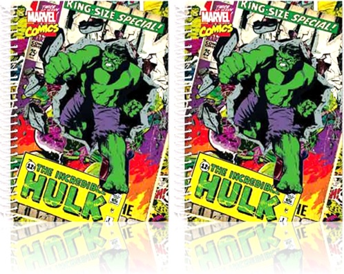 caderno capa dura universitário spiral marvel comics the incredible hulk