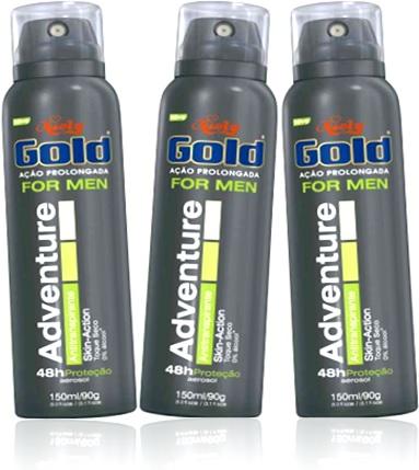 desodorante masculino niely gold perfume adventure 48h de proteção