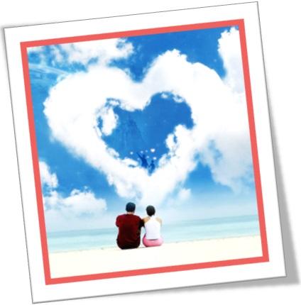 homem e mulher, nuvem coração, amor, paixão, namoro