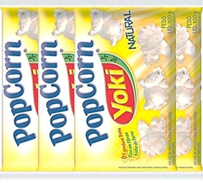 popping corn, pipoca de microondas yoki popcorn sabor natural