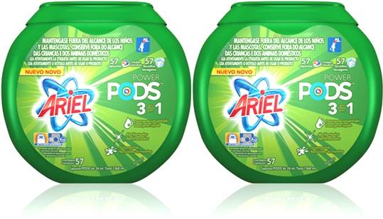 detergente, lava roupas sabão ariel power pods cápsulas