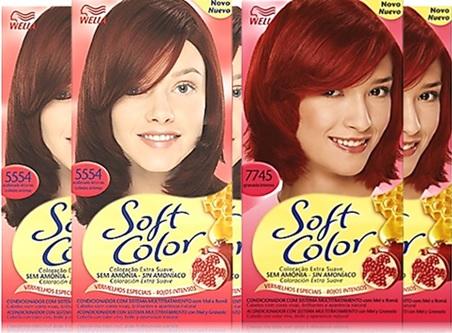coloração tinta tintura para cabelos wella soft color vermelhos especiais, cabelos ruivos