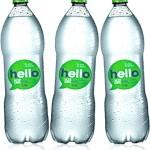 água hello h2oh limão sem gás, bebida, refrigerante, refresco