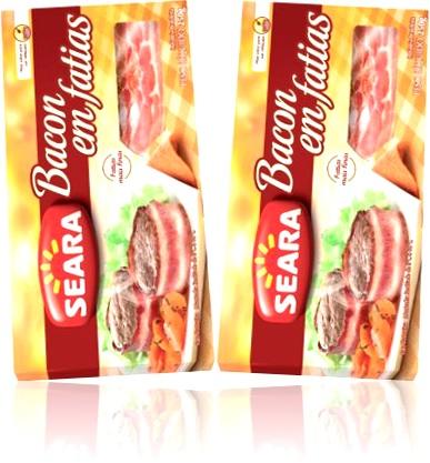bacon em fatias seara, toicinho, toucinho, carne de porco