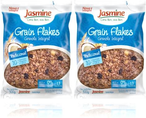 grain flakes granola integral jasmine coco mel passas de uva