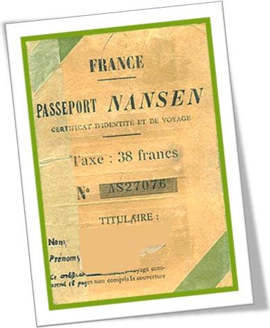 nansen passport, passaporte nansen, liga das nações, nações unidas