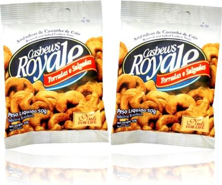 amêndoas de castanha de caju cashews royale torradas e salgadas cascaju