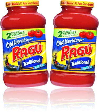 pasta sauce bottle of ragu traditional old world style