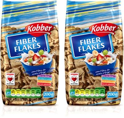 fiber flakes kobber alimento a base de aveia milho trigo