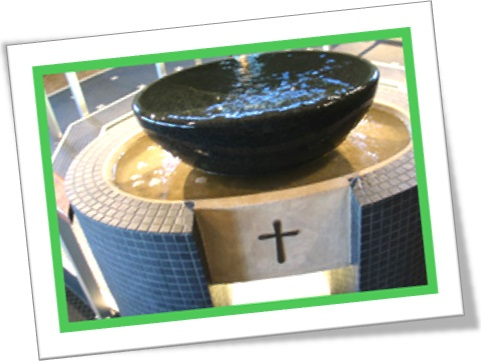 church, nave, font, pia de água benta, pia batismal