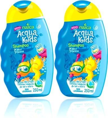 shampoo praia e piscina nazca acqua kids sem lágrimas