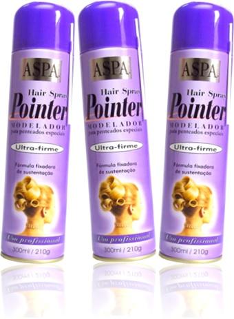 aspa hair spray pointer modelador fixador de cabelo ultra firme