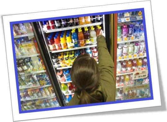 beverage section, seção de bebidas em inglês