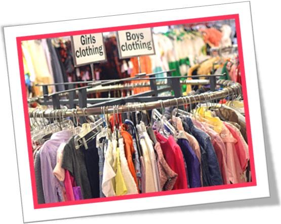 clothing section, seção de vestuário em inglês, roupas, peças íntimas em inglês