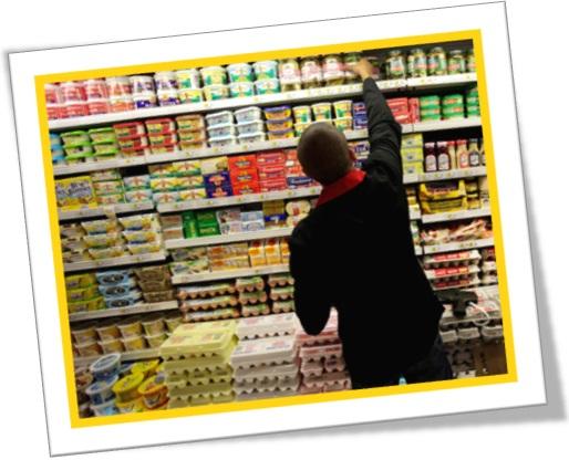 dairy section, seção de laticínios em inglês, manteiga, queijo, iogurte