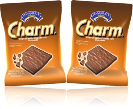 itamaraty charm biscoito chips de wafer coberto de chocolate