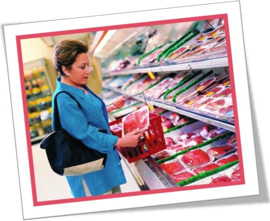 meat section, seção de carnes no supermercado em inglês