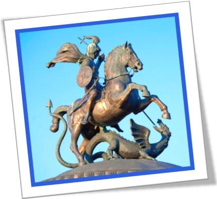 estátua de são jorge matando o dragrão, saint george slew the dragon