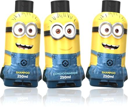 minion, shampoo, condicionador minions biotropic, criança, higiene pessoal