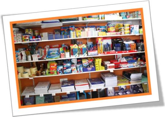 stationery section papelaria material de escritório material escolar em inglês